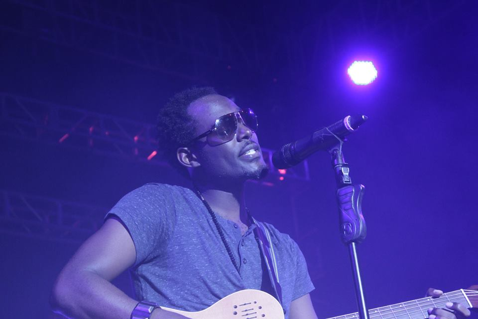Maurice Kirya performs at the show.