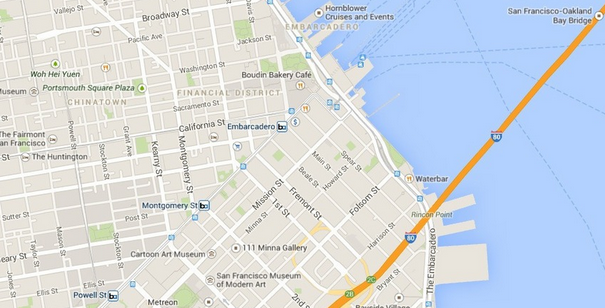 how to work out straight line distance on google maps