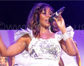 Desire Luzinda performing at her Serena concert recently.