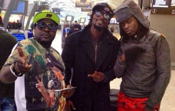 Radio and Weasel hanging out with their manager Chagga