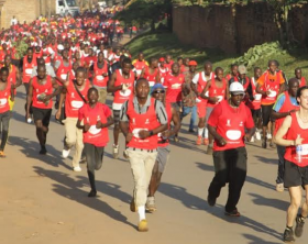 Participants during last year's edition of the Kabaka birthday Run.