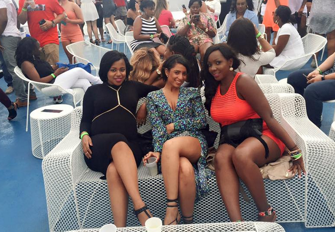 Photos: Pregnant Zuena enjoys boat cruise with girlfriends ...