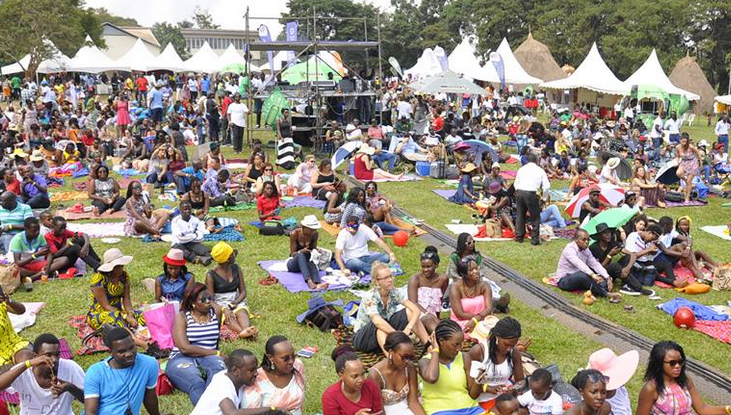 Guests merrymaking at the 10th edition of Blankets and Wine.