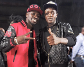 Bobi Wine hangs out with Chameleone