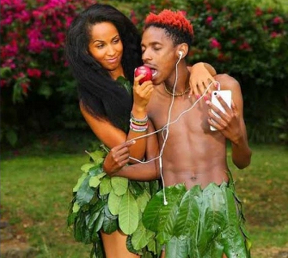 Eric Omondi and girlffriend eat forbidden fruit