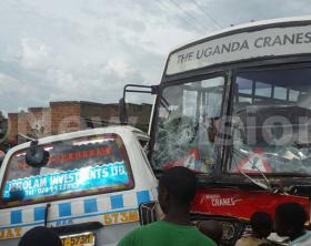Uganda Cranes bus involved in accident