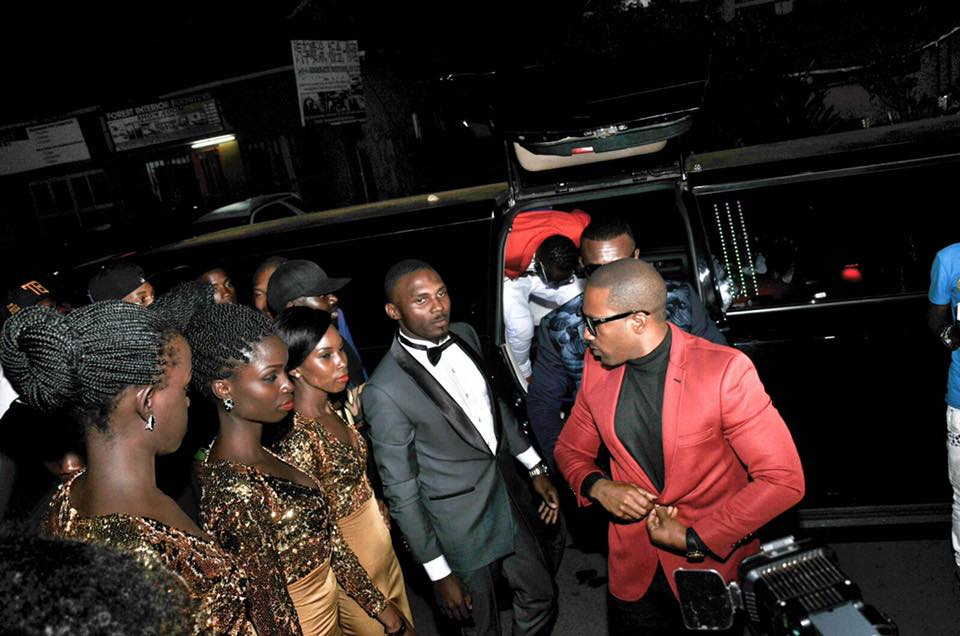Meddie Ssentongo and Cameroon Gitawo arriving for the  Money and gold party