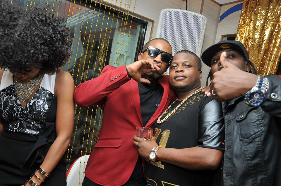 Meddie Ssentongo and Ivan Ssemwanga at the money and Gold party