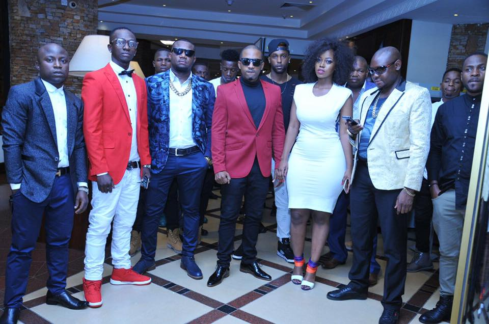 Meddie Ssentongo and Cameroon Gitawo at the Money and gold party