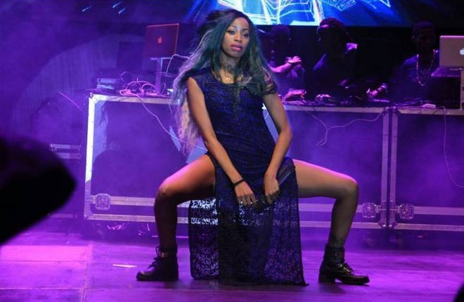 Sheebah Performing at the Pop Bottle show