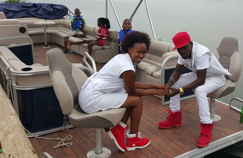 Bobi Wine and his family enjoy a ride on his yacht.