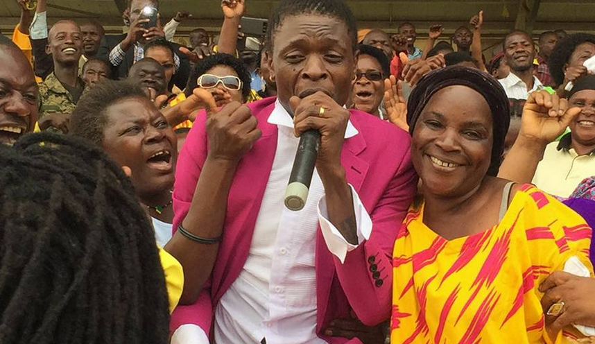 Chameleone performs at Kololo in the Women's day celebrations