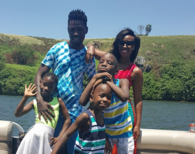 Bobi Wine and his family enjoy weekend at Bulago island