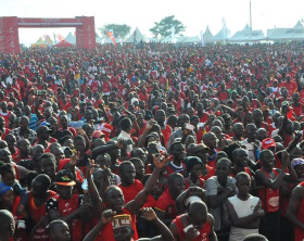 Thousands of people arrive to participate in the Airtel-sposnsored kabaka run Thousands of people arrive to participate in the 2016 Airtel-sponsored Kabaka Birthday Run