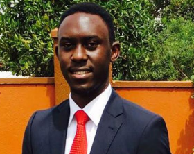 Victoria University guild president Keith Mugabi