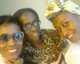 Juliana Kanyomozi shows off her mother and sister