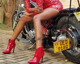 Sheebah shows off leg tattoo