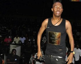 StarBoss Big Eye undresses on stage