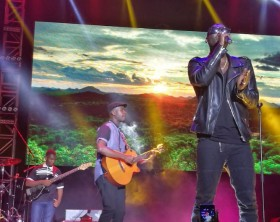 Maurice Kirya entertains revelers at his concert