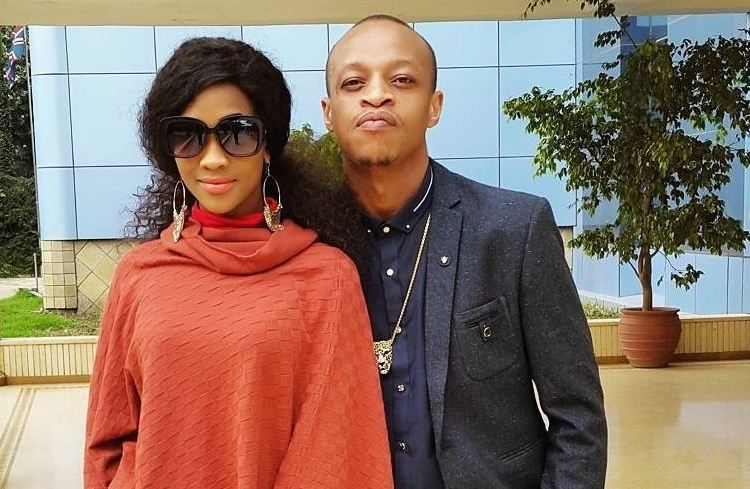 Prezzo and girlfriend Michelle Oyola