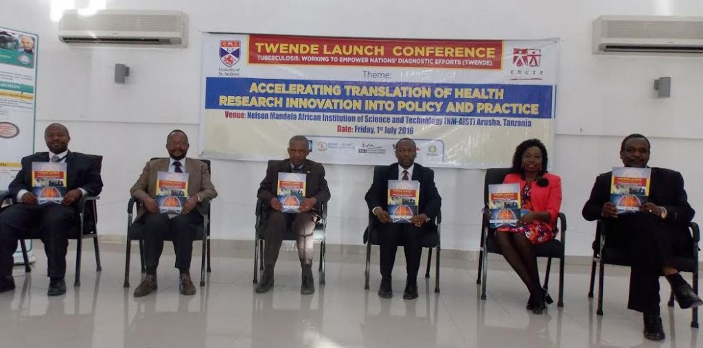 Top researchers at the launch of TWENDE Project in Arusha.