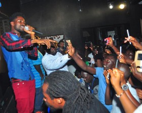Bobi Wine performs at De Posh re-opening ceremony