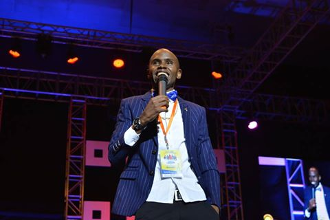 Alex Muhangi performing at Africa Laughs Season 3