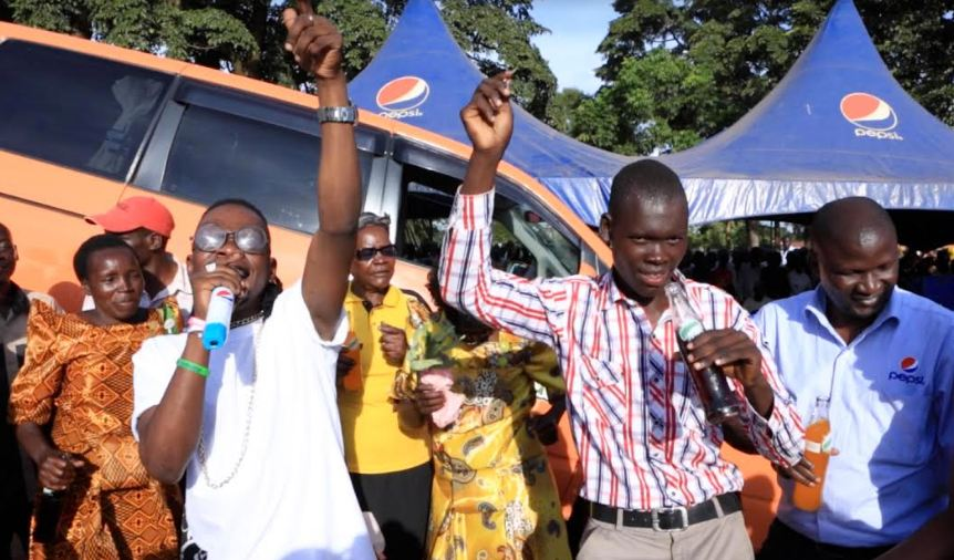 John Daniel Anyang, winner of the 4th Toyota Noah in the Sala Puleesa Promotion.
