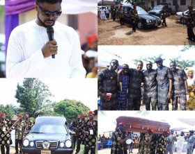 Basketmouth buries mum