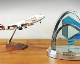 Emirates SkyCargo wins Air Cargo Carrier of the year award at Global Freight Awards 2016.