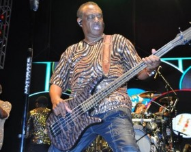 Robert Kool Bell doing his thing with the bass guitar