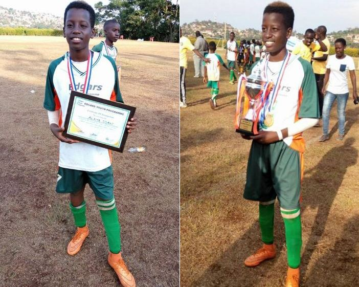 Alpha Thierry Ssali  named MVP at football tournament