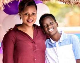 Zuena Kirema with her son Alpha Thierry Ssali