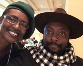 Winnie Byanyima and Will.I.Am