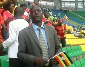 Dixon Bond Okello at AFCON in Gabon