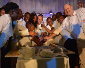 Sheraton Kampala hotel staff at their party