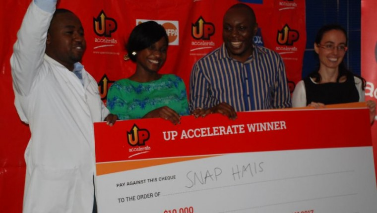 Snap HMIS, a mobile application that helps hospital data clerks compile health management information system reports, were one of the winners of the $10,000
