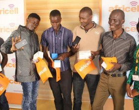 """Winners in the Africell """"Play Your Love"""" Valentines promo pose with their goodies."""