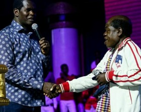 Comedian Kapere and Pr. Robert Kayanja