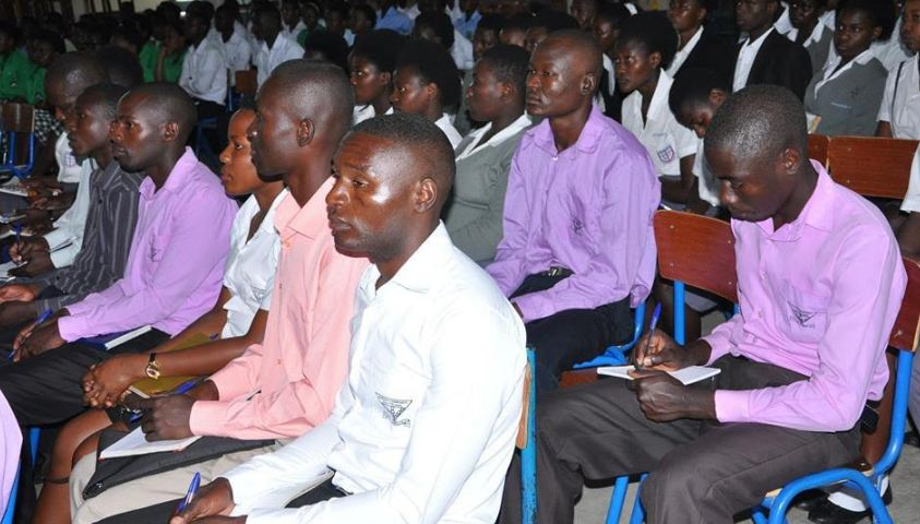 Students from different schools in Western Uganda attended the First Western Uganda Career Guidance Fair