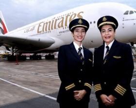 Captain Nevin Darwish from Egypt and First Officer Alia Al Muhairi from the UAE fly the iconic Emirates Airbus A380 aircraft from Dubai to Vienna.