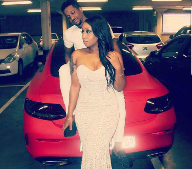 Victoria Kimani poses with her boyfriend
