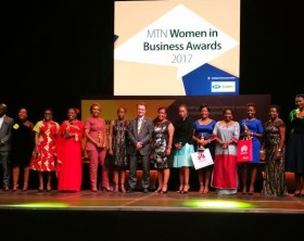 The winners of the MTN Women in Business awards 2017 pose for a group photo