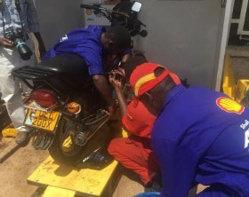 Motorcyclists who buy Shell Advance wil get a free oil change at selected service stations.