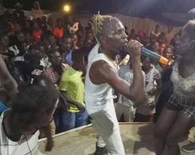 Coco Finger performs in S. Sudan