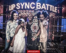 Ali Kiba dressed as a woman at Lip Sync battle