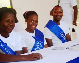 Students at Cavendish University open day
