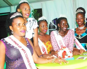 Some of the Miss Tourism Uganda regional queens at the launch of the 2017 edition of Miss Tourism Uganda pageant.