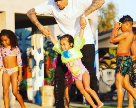 Chris Brown throws birthday party for his daughter Royalty