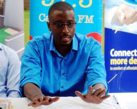 Big Breakfast host Marcus addresses the media during the launch of the Big Wedding season 5.